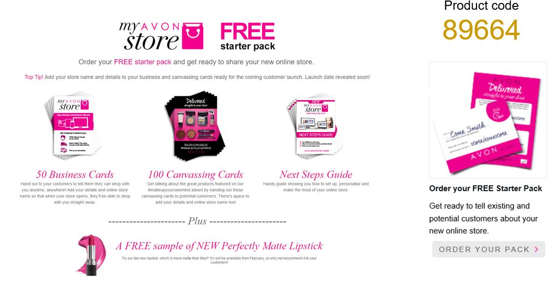 Free Avon starter pack - www.gailsreps.co.uk