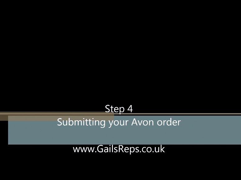Step 4 Submitting your Avon order