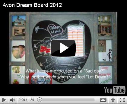 Avon Vision Board ~ Avon Dream Board By Gail Reynolds