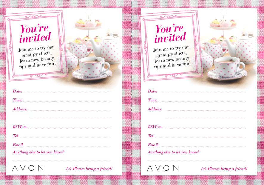 Avon Tea Party Theme -
