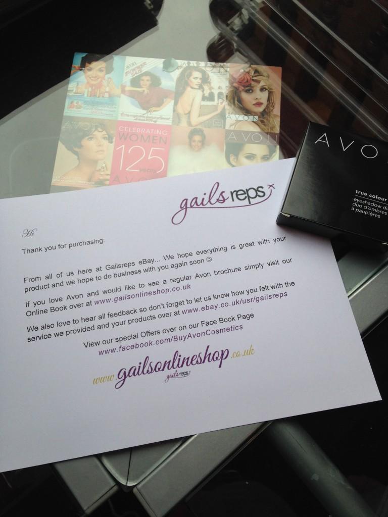 Avon on eBay sales letter