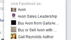Avon on Facebook pages