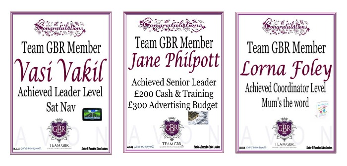 Campaign 17 Avon incentive achievers