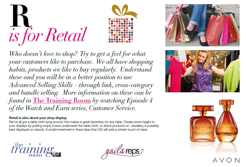 Avon Party R is for Retail