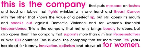 Avon Make up mission statement