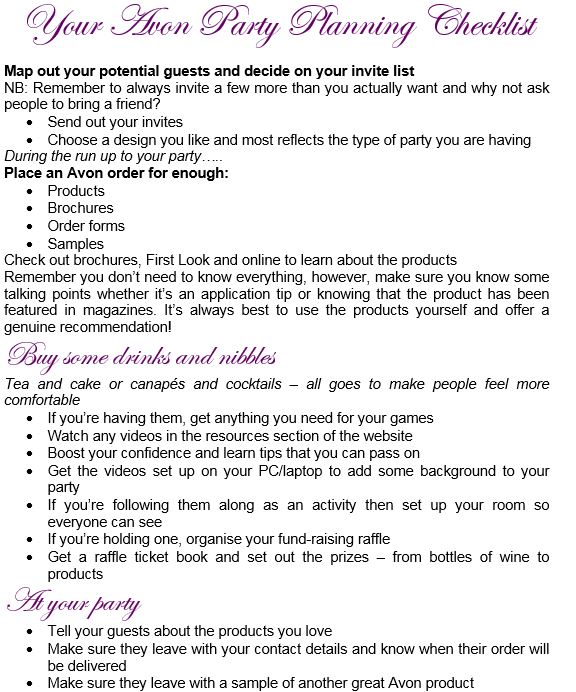 How To Host An Avon Party And Boost Your Sales