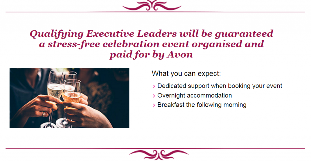 Qualifying Avon executive