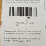 Avon Returns Label