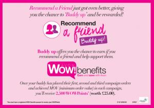 Avon Buddy up flyer WOW Benefits