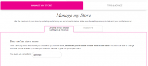 Manage my store