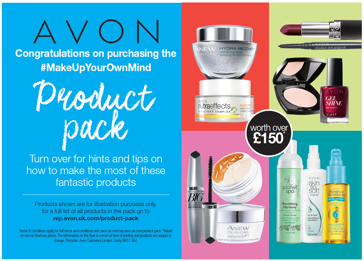 Avon Make Up Your Own Mind Flyer