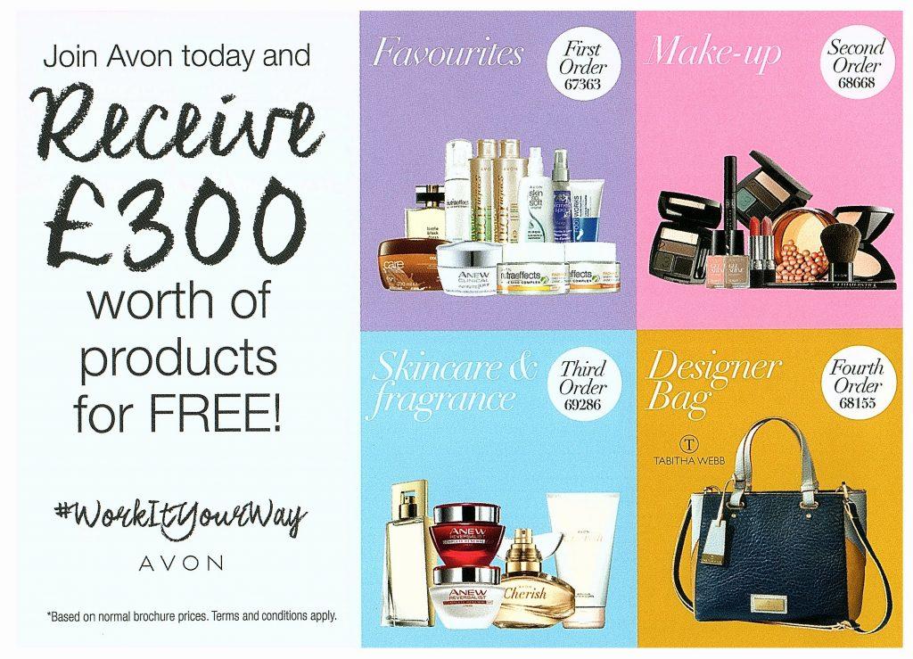 Avon free £300 welcome kits