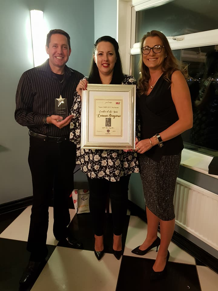 Leader of the Year Team GBR Avon Recognition Dinner 2017 Leanna Biagioni