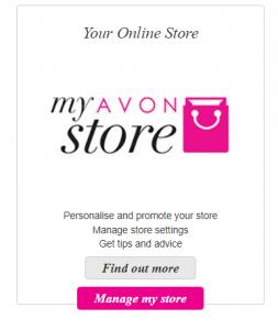 manage my Avon online store