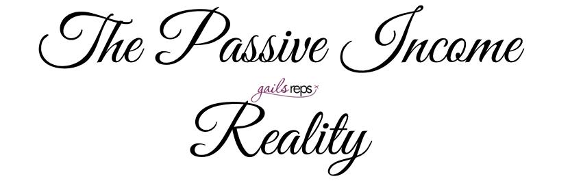 The passive income reality